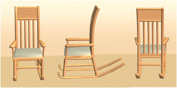Rocking chair - mesh