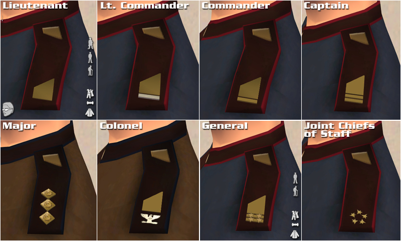 Earthforce Rank Insignia