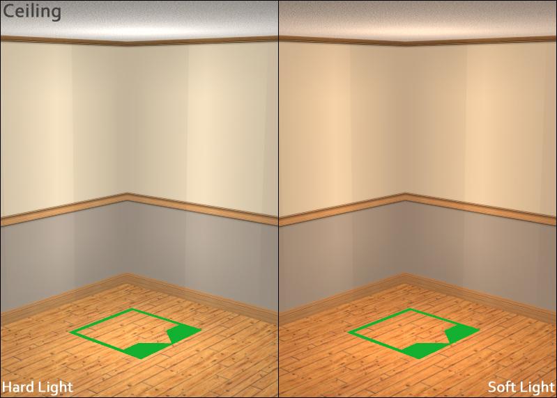 Light Comparison - Ceiling