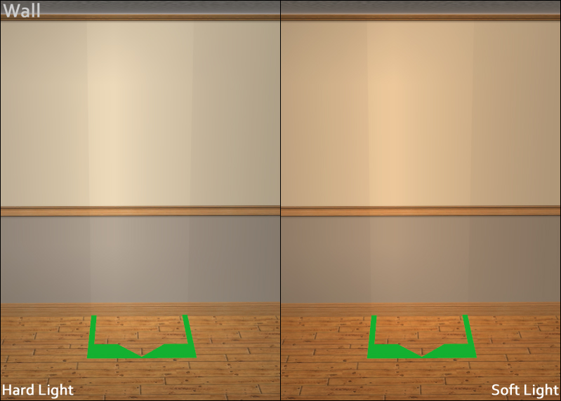 Light Comparison - Wall