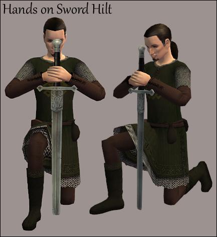 Hands on Sword Hilt