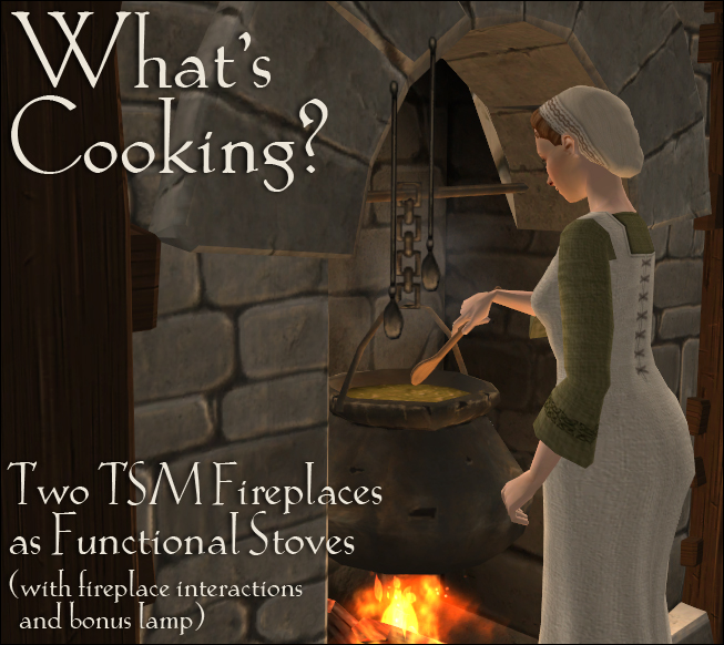 What's Cooking? Two TSM fireplaces as functional cooking stoves