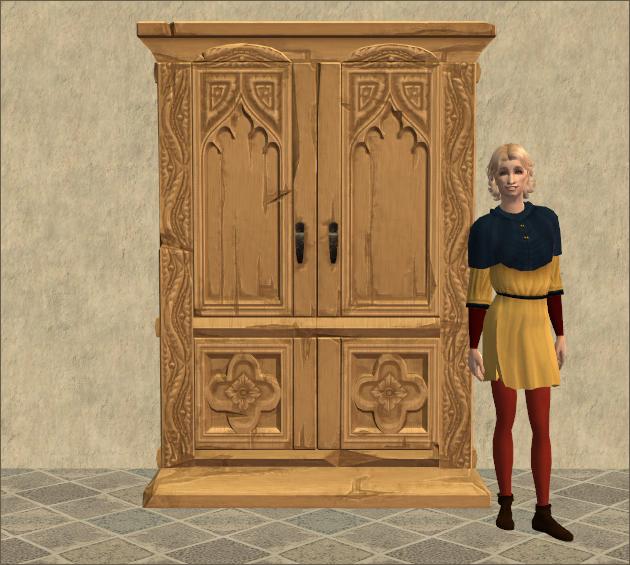 Timberbumff Concarvenite Wardrobe