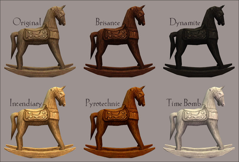 Rocking horse recolours