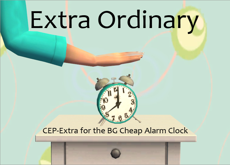 CEP-Extra for the BG Cheap Alarm Clock