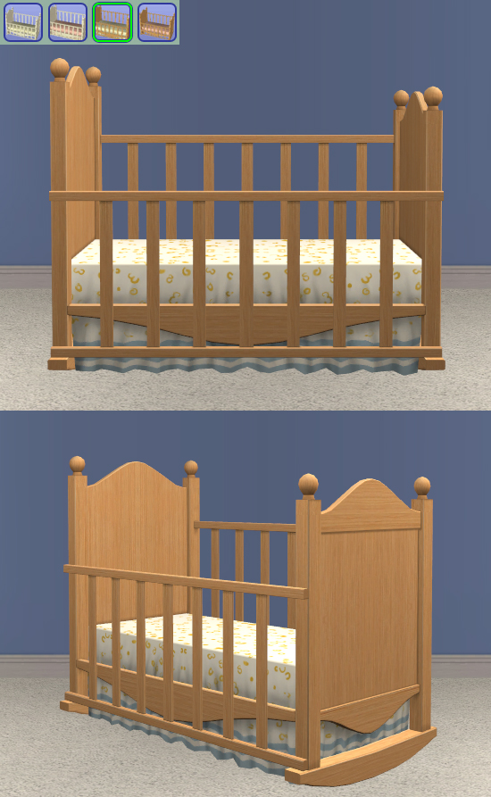 Canopy Crib - No Bedding