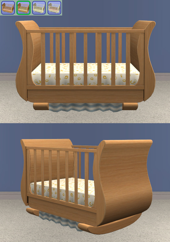 Sleigh Crib - No Bedding