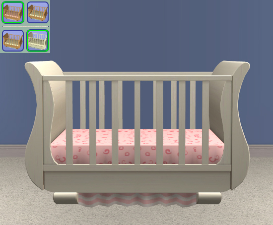 Sleigh Crib - Original Bedding